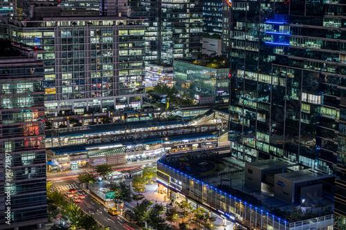 the night view of Seoul, Seoul IT Center, Seoul Metro