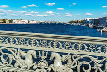 Saint-Petersburg. The Grating Of The Lieutenant Schmidt Bridge.