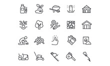 Landscaping Icons Vector Design