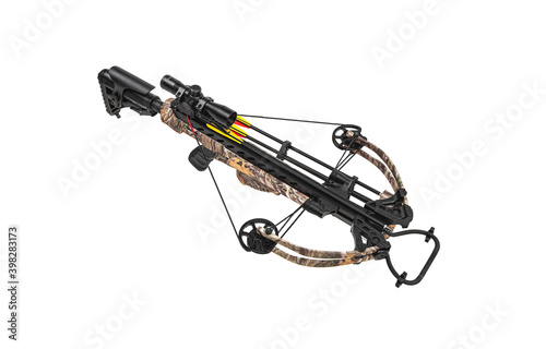 Fotografija A modern crossbow with a telescopic sight