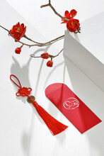 Decoration For Vietnam Tet Holiday, Also Lunar New Year. Lucky Envelopes For Besr Wishes.