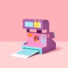 Retro Papercraft Photo Camera.