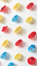 Vertical Pattern From Little Drink Paper Umbrellas.