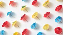Little Multicolored Drink Paper Umbrellas Pattern.