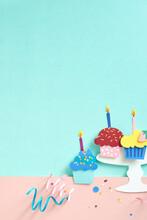 Happy Birthday Cupcakes Paper Craft.