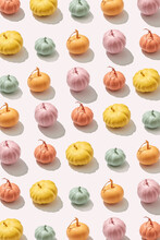 Multicolored Painted Pumpkins Pattern.