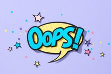 Oops! Comic Speech Bubble.