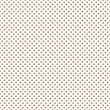 Simple Abstract Floral Seamless Pattern. Black And White Vector Texture With Small Flower Silhouettes, Petals, Tiny Crosses. Elegant Minimalist Monochrome Background. Delicate Repeat Design For Decor