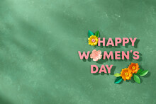 8 March. Decoration Concept Of Happy Woman's Day.