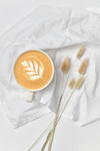 Greeting Card - Cappuccino And Dry Grass.