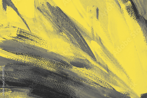 trendy-yellow-and-gray-abstract-art-color-texture-background-with-traces-brushstrokes-and-spots-of-paint-year-color-concept