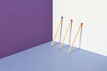 Geometric Projection Of Matchsticks On Surfaces.