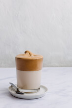 Glass Of Dalgona Coffee