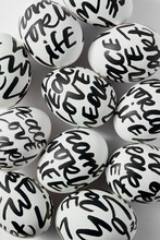 Easter Pattern From Eggs With Text.