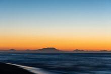 Sunrise Scenery With Soft Waves Of Khalaktyrsky Beach Kamchatka Peninsula, Russia.