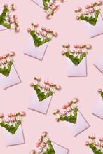 Roses In An Envelopes Pattern.