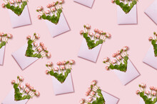 Craft Envelopes With Fresh Roses.