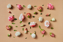 Floral Pattern From Fresh Roses.