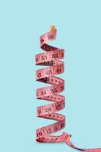 Spiral Measuring Tape Vertical Standing.