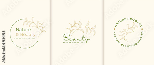 Photo Nature cosmetics logo collection