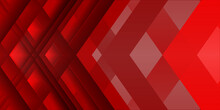 Abstract Red White Geometrical Diamond Background - Vector Illustration. Red Business Background With Cross Lines