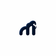 Gorilla Logo, Icon Animal, Letter M