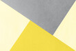 Paper for pastel overlap in trendy yellow and grey colors for background, banner, presentation template. Color 2021 concept. Creative modern background design in trendy colors.