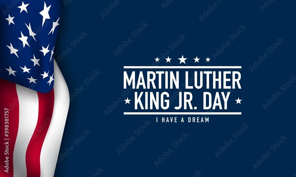 Fototapeta Martin Luther King Jr. Day Background. Vector Illustration.