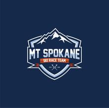 Winter Snowboard Sport Logo Badge. Coat And Icon. Mountain Ski Sports Badge