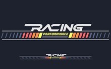 Racing Performance Trendy Fashionable Vector T-shirt And Apparel Design, Typography, Print, Poster. Global Swatches.