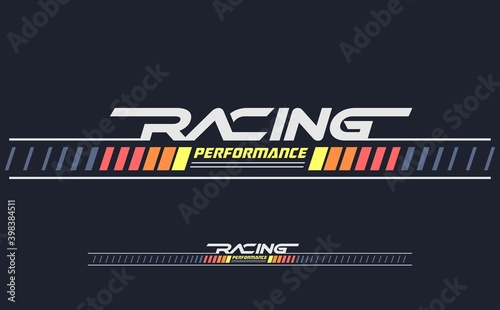 Fotografie, Obraz racing performance trendy fashionable vector t-shirt and apparel design, typography, print, poster