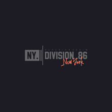 NYC.division 86 Slogan Typography For T Shirt Print