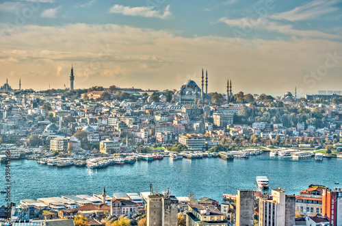 Fotografija Istanbul and the Bosphorus skyline, HDR Image
