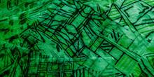 Art Craft Hands. Mint Print Geometric. Green Illustration. Mint Geometric Identity. Emerald Painted Line Patterns. Drawing Mural.