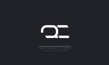 QC, CQ, Q, C Letter Logo Design With Creative Modern Trendy Typography