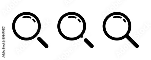 Fototapeta Search. Search, vector icons, isolated. Magnifying glass icon. Vector illustration obraz