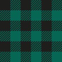 Green Buffalo Check Plaid Seamless Pattern - Classic Style Green And Black Buffalo Check Flannel Plaid Seamless Pattern
