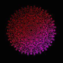 Valentine Day Mandala Design Vector Png Red And Black Background With Love