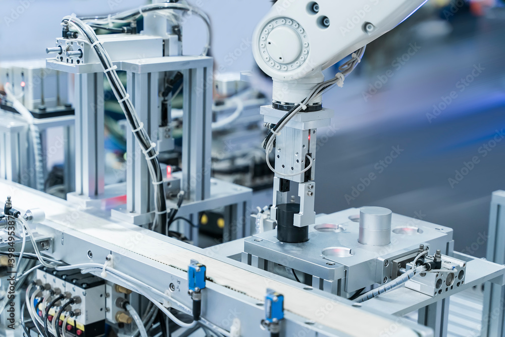 Fototapeta automatic machine tool in industrial manufacture factory,Smart factory industry 4.0 concept.