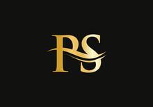 Premium PS Letter Logo Design. PS Logo For Luxury Branding. Elegant And Stylish Design For Your Company.