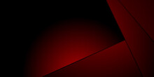 Dark Red Tech Abstract Background With Triangle Overlap Layer