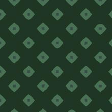Tide Green Geometric Pattern With Rhombuses