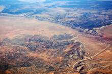 Aerial View Of Aubrey Cliffs And Seligman At Camp Verde Yavapai County Arizona