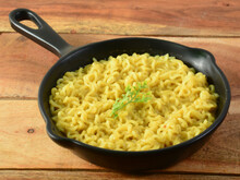 Maggie Noodles, Instant Noodles Served In A Bowl Over A Rustic Wooden Background, Selective Focus