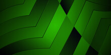 Green Black Arrow Wave Digital Abstract Background