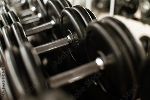 Fototapeta hantel hanteltraining muskeltraining gewichte bodybuilding krafttraining workout
