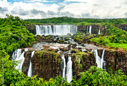 Iguazu Falls, the largest waterfall in the world. UNESCO world heritage in Brazil and Argentina