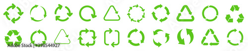 Fotografie, Obraz Biodegradable, compostable, recyclable icon set