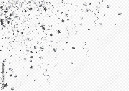 Obraz na plátně Silver Spiral Flying Vector Transparent