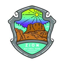 Zion National Park Monoline Design
